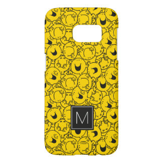 Batch of Yellow Smiles Pattern   Monogram