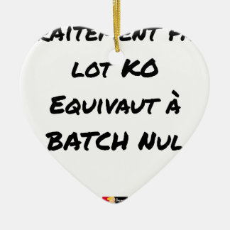 BATCH PROCESSING KB IS EQUIVALENT TO NULL BATCH CERAMIC ORNAMENT