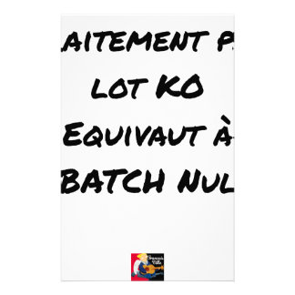 BATCH PROCESSING KB IS EQUIVALENT TO NULL BATCH STATIONERY