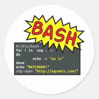 Batchman Classic Round Sticker