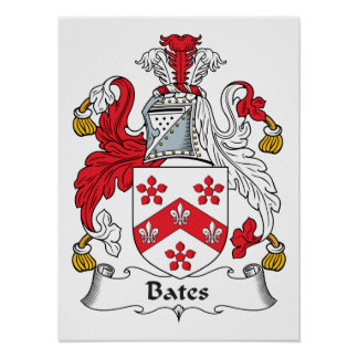 Bates Family Crest Poster