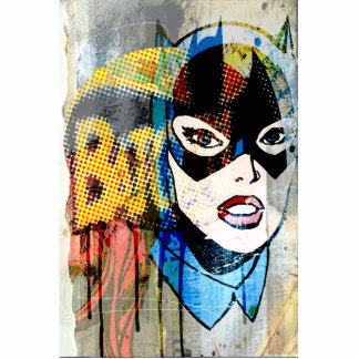 Batgirl Head Standing Photo Sculpture