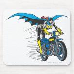 Batgirl on Batcycle Mouse Pad