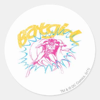Batgirl Power Round Sticker