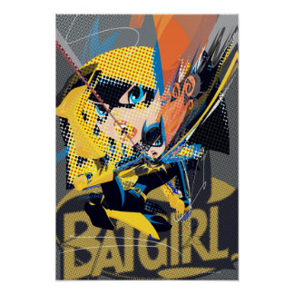 Batgirl Swinging Kick Poster
