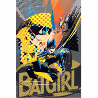 Batgirl Swinging Kick Standing Photo Sculpture