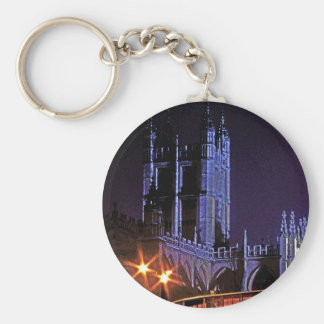 Bath Abbey at Night, Somerset, England, UK (2) Key Ring