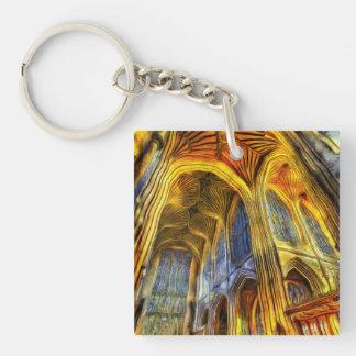 Bath Abbey Vincent Van Gogh Key Ring