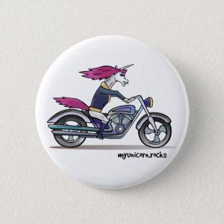 Bath ASS unicorn on motorcycle - bang-hard unicorn 6 Cm Round Badge