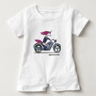 Bath ASS unicorn on motorcycle - bang-hard unicorn Baby Bodysuit