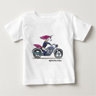 Bath ASS unicorn on motorcycle - bang-hard unicorn Baby T-Shirt