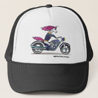 Bath ASS unicorn on motorcycle - bang-hard unicorn Trucker Hat