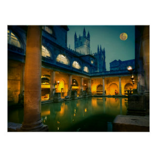 Bath at night poster