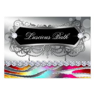 Bath Business Card Nail Salon Zebra Bold