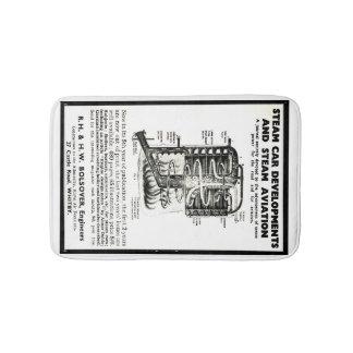 Bath mat Advert Steam Cars and Steam Aviation
