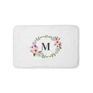 Bath Mat - Floral Circle Monogram
