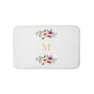Bath Mat - Floral Monogram