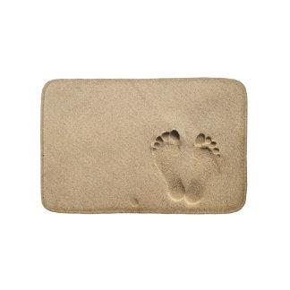 Bath Mat - Footprint in the sand Bath Mats