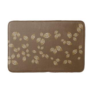 Bath Mat-Gold Leaves Bath Mat