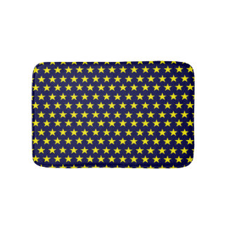 Bath mat night-blue of stars