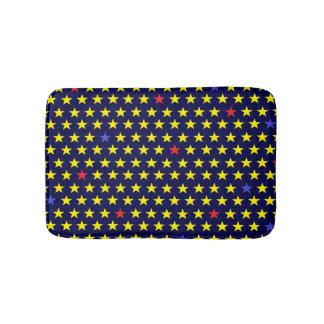 Bath mat of stars night-blue