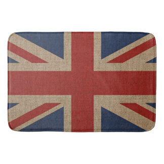 Bath Mat with Britain flag on canvas pattern