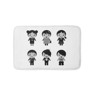Bath mat with Emo kids Bath Mats