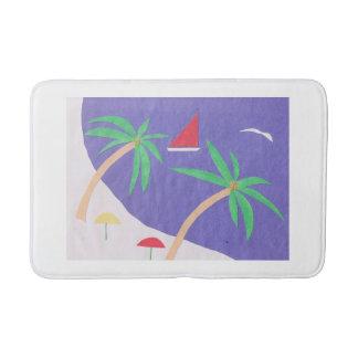 Bath Mat with Island Scene