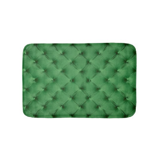 Bath Mat with  print of green capitone