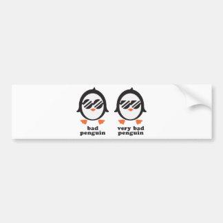 bath penguin - penguin bumper sticker