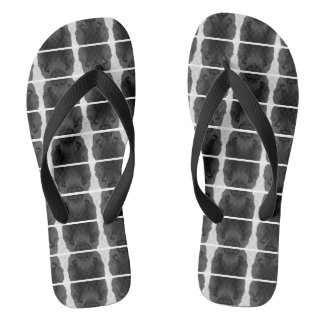 Bath sandals - black-and-white Design
