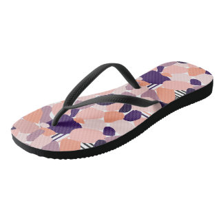 Bath sandals in the Terrazzo Design purple, orange