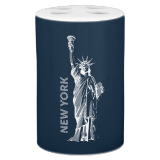 Bath set, Liberty, Statue of Liberty, New York, Bathroom Set