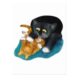 Bath Time for Tiger Kitten Postcard