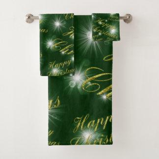 Bath Towel Set,holiday, happy christmas