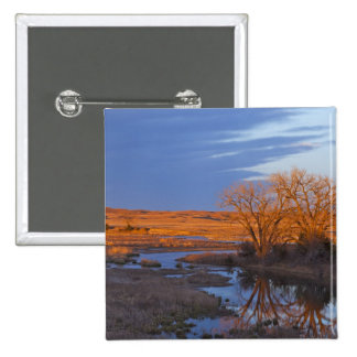 Bathed in sunset light the Calamus River 15 Cm Square Badge