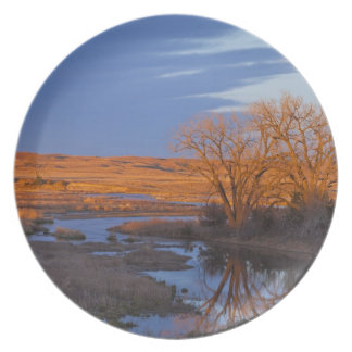 Bathed in sunset light the Calamus River Plate