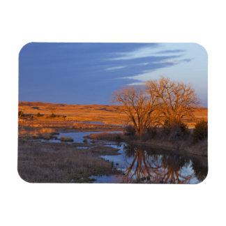 Bathed in sunset light the Calamus River Rectangular Photo Magnet