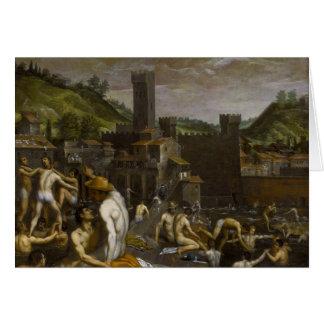 Bathers at San Niccolo Card