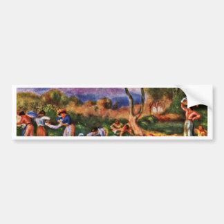 Bathers By Pierre-Auguste Renoir (Best Quality) Bumper Sticker