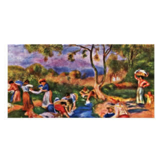 Bathers By Pierre-Auguste Renoir (Best Quality) Personalized Photo Card