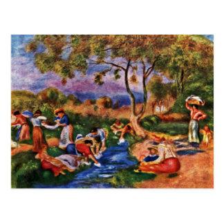 Bathers By Pierre-Auguste Renoir (Best Quality) Postcard