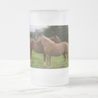 Bathing Beauties Frosted Glass Beer Mug