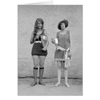 Bathing Beauty Contest, 1922 Card