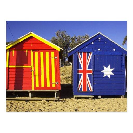 Bathing Boxes, Middle Brighton Beach, Port 2 Postcards