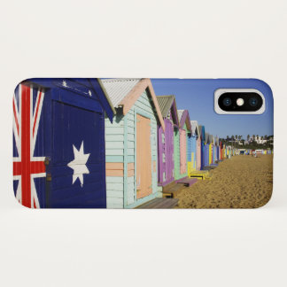 Bathing Boxes, Middle Brighton Beach, Port iPhone X Case