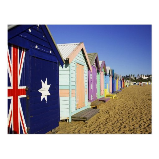 Bathing Boxes, Middle Brighton Beach, Port Post Cards