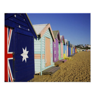 Bathing Boxes, Middle Brighton Beach, Port Poster