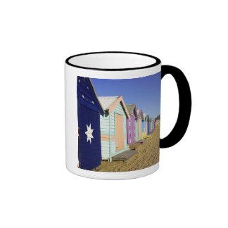Bathing Boxes, Middle Brighton Beach, Port Ringer Mug