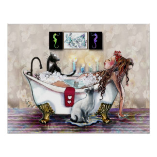 Bathing by Candlelight Print